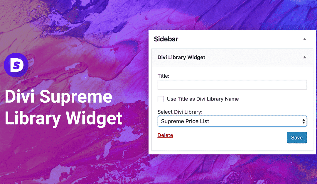 How to Add Divi Library Layouts to Your Widget Areas